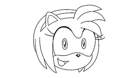 Amy Rose Coloring Pages - Eskayalitim