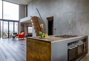 Arbeitsplatte Küche Beton : beton cir g nstige arbeitsplatte in beton optik ~ Watch28wear.com Haus und Dekorationen