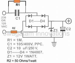 Calculating Capacitor Current In Transformerless Power