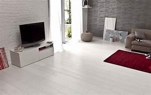80 parquet fonce mur blanc inspiration de dcor avec With parquet gris salon