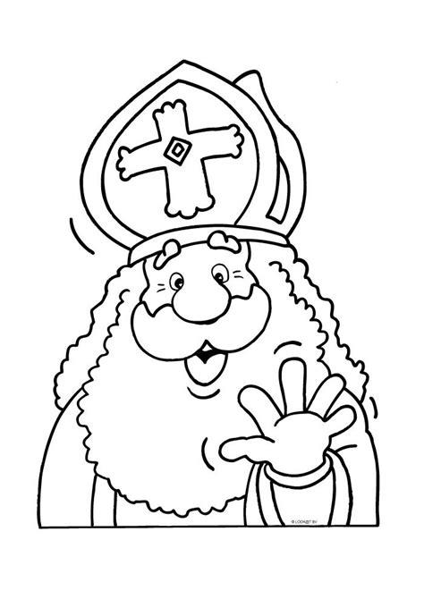 Kleurplaat Sinterklaas Roe Peuters by Sinterklaas Zwaait Sint Kleurplaten Dessin