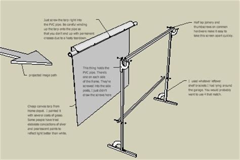cq crafts diy  standing projector screen