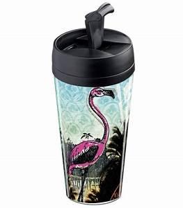 Mug Flamant Rose : mug de voyage personnalisable isotherme flamant rose et palmiers wantit ~ Teatrodelosmanantiales.com Idées de Décoration