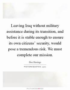 Leaving Iraq wi... Military Aid Quotes