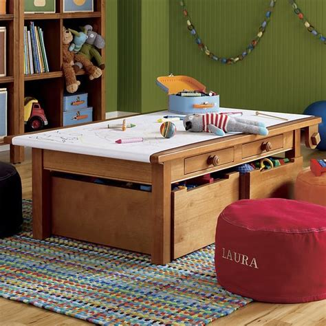 Activity Table Complete Set, Light Honey Contemporary