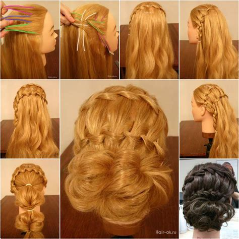 how to diy double waterfall triple french braid hairstyle