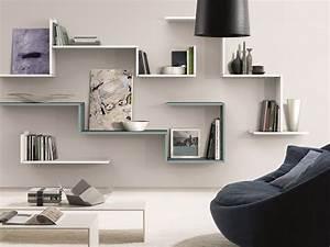 étagère Murale Salon : etagere murale design ~ Farleysfitness.com Idées de Décoration