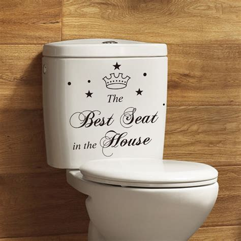 stickers muraux toilettes humour bathroom wall toilet stickers quote seat decal vinyl bathroom sticker for creative