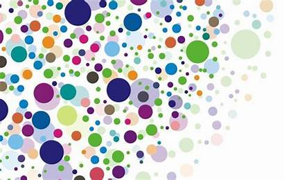 Circles Different Vector Colors Sizes Rainbow Circle