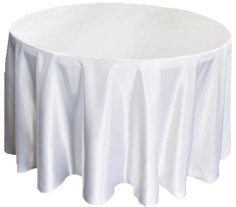round white table cloth 90 quot white satin tablecloths