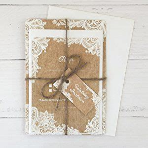 rustic lace pattern wedding invitations rsvp pack