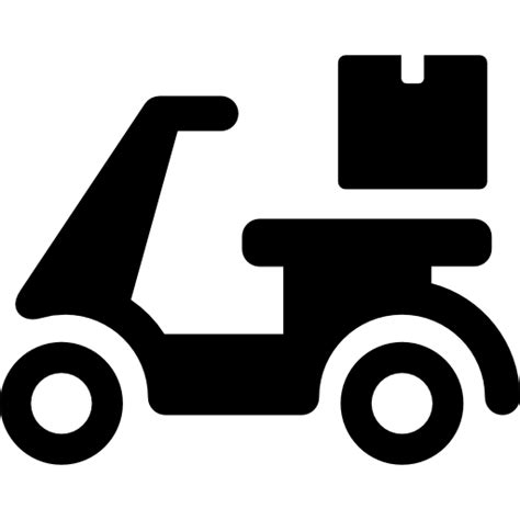 Motorcycle, deliver, package, Box, motor, Bike, transport icon