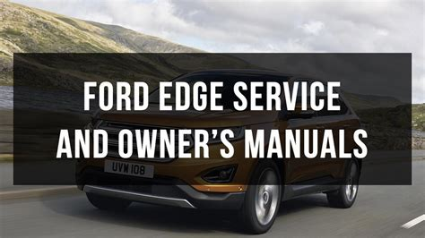 ford edge service  owners manual  youtube