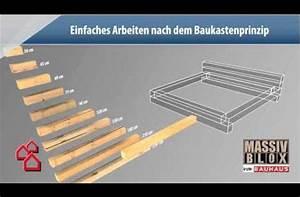 Massiv Blox Holzbalken : bauhaus tv produktvideo massiv blox youtube bett und beistelltisch f r nico sch ne ideen ~ Eleganceandgraceweddings.com Haus und Dekorationen
