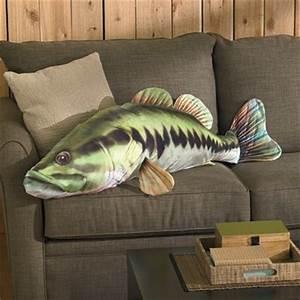 Soft, Cuddly Large Mouth Bass Pillow — 4 Feet Long