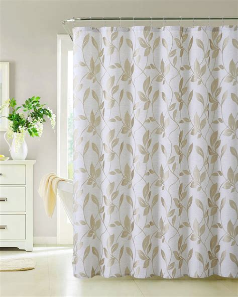 fabric for curtains fabric shower curtain taupe leaf design 72 quot x 72 quot ebay