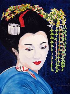 Geisha Painting by Emmanuel Turner