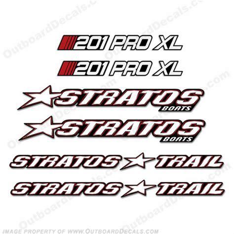 Stratos Boats Reviews by Stratos Boats 201 Pro Xl Decal Package