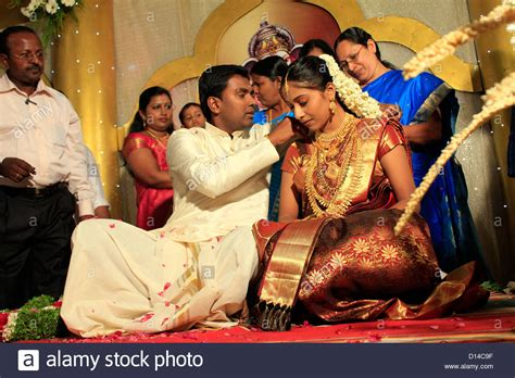 A Hindu Wedding Ceremony In India.tying The Knot Stock