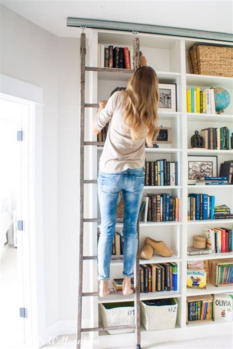Ladder Shelf Bookcase Ikea by Billy Bookcase Hack With Library Ladder 2122 Windermere