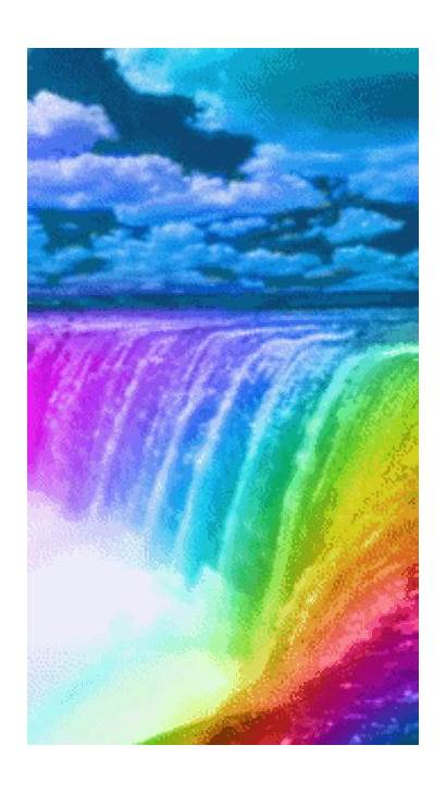 Colorful Animated Paisajes Gifs Air Terjun Waterfall