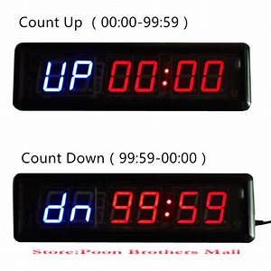 Tabata hiit fitness equipment gym crossfit interval for Gym wall clock timer