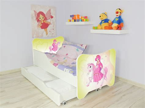 Children Bed Pony Single Bed For Girls Kids With Mattress