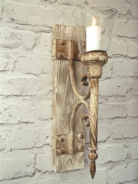 french shabby chic wall sconce candle holder antique
