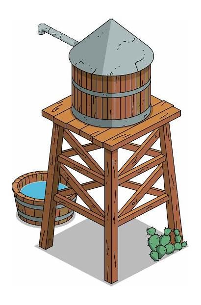 Tower Water Frontier Wikia West Wild Simpsons
