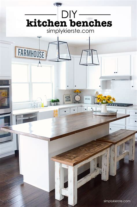 building a kitchen island with seating diy kitchen benches kitchen benches farmhouse style and
