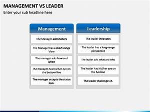 Text Features Powerpoint Management Vs Leader Powerpoint Template Sketchbubble