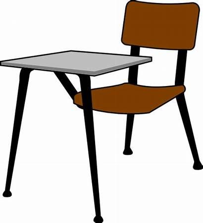 Desk Clipart Student Classroom Table Desks Clip