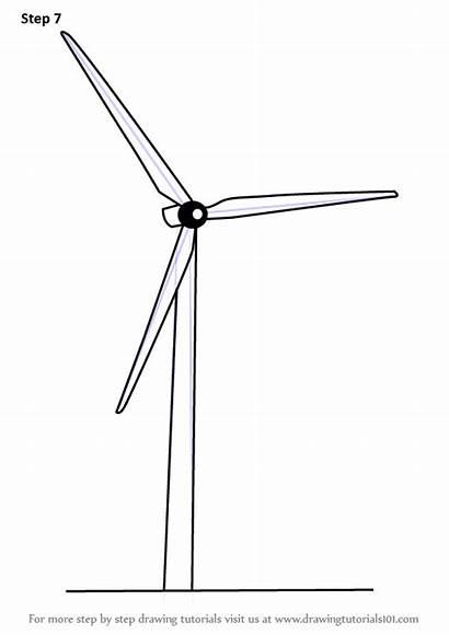 Windmill Draw Electric Drawing Step Windmills Improvements