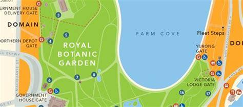 Map  The Royal Botanic Garden Sydney