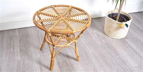 Table en bambou & rotin 1960 *Vendue* room 30