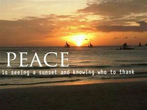 Peace... Thank ... Boracay Sunset Quotes