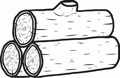 Log Wood Clipart Pile Drawing Vector Logs