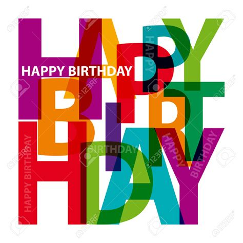 happy birthday masculine clipart   cliparts