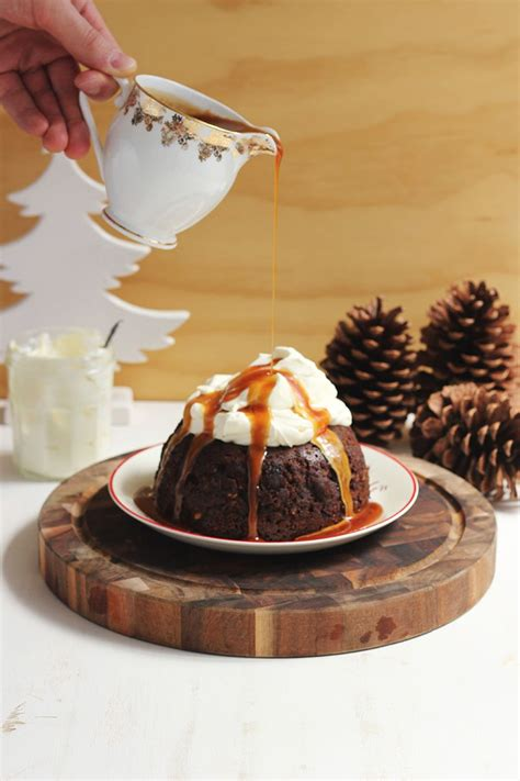 The traditional recipe produces a sticky, transparent soup that doesn't. Non-Traditional Christmas Pudding with Salted Caramel and ...