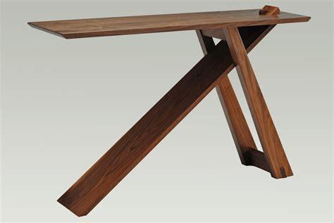 custom  knock  walnut wedge entry table  eben