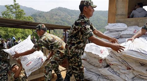 India Resumes Aid To Nepal by Nepal Struggles To Cope With Of Foreign Relief Teams The Indian Express