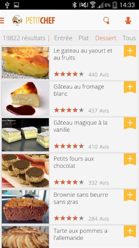 application recette cuisine ptitchef recettes de cuisine applications android sur