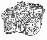 Camera Coloring Tribal Pages Adult Printable Sheets Adults Colouring Camara Coloringsky Cameras Designs Template Cartoon Activity Teenagers Detailed Sky Star sketch template