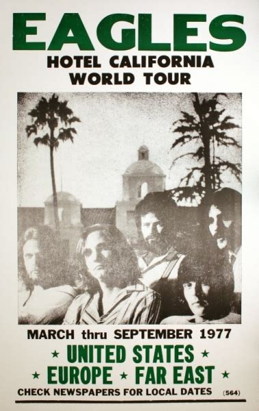 Eagles  Hotel California World Tour (poster)  Amoeba Music