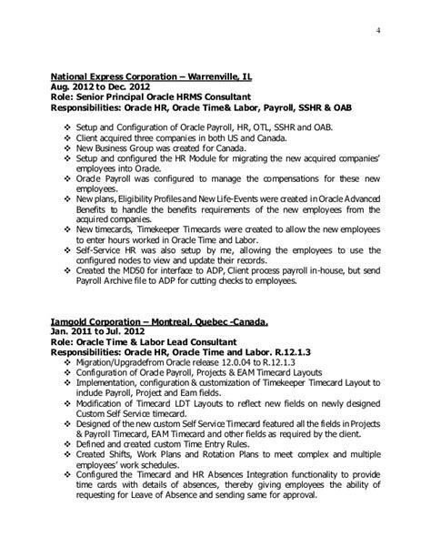 Oracle Hrms Consultant Resume by Olatokunbo Ogun Resume