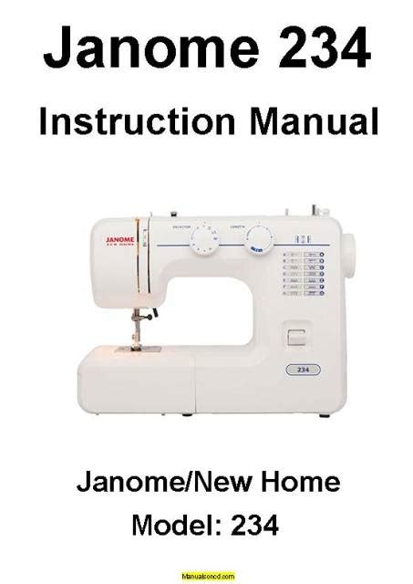 janome  home  sewing machine instruction manual