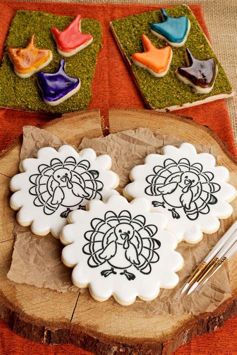 paint   cookie  thanksgiving  bearfoot baker