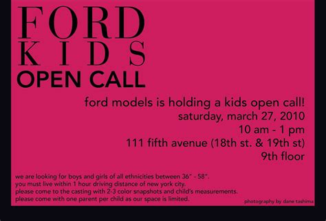 Ford Modeling Company Children