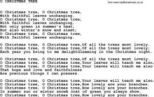 5 best images of o christmas tree words printable kids christmas printable song lyrics o