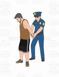 Male Police Officer Arresting A Man Cartoon Clipart ...